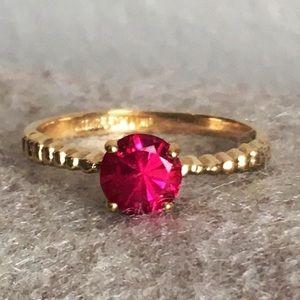 Vintage gold filled ruby ring